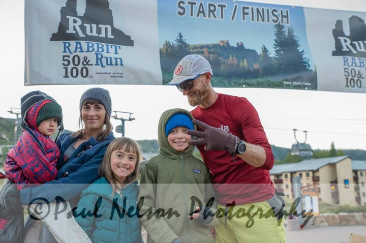 Third place. Enjoying the finish line with my little tribe. What a treat to have them there.